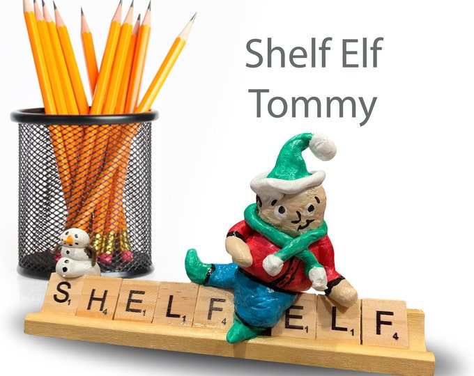 Scrabble Shelf Elf Tommy