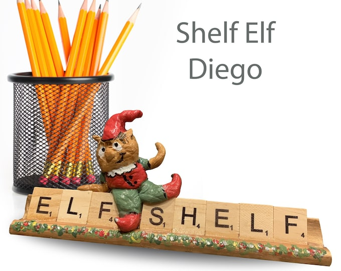 Scrabble Shelf Elf Diego