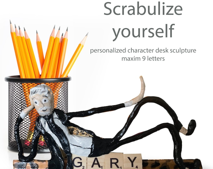 Scrabulize Yourself Personalized Sculpture