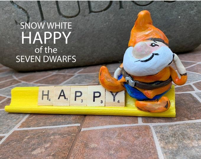 Happy Scrabble Art