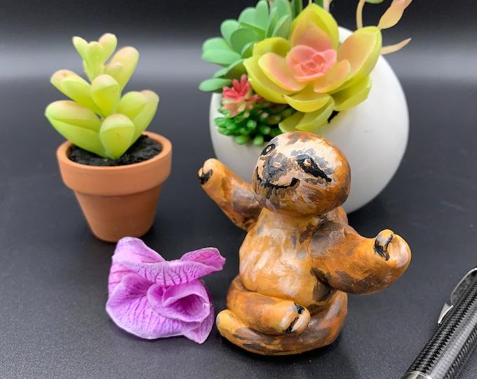 Zen Sloth Miniature Desk Statue