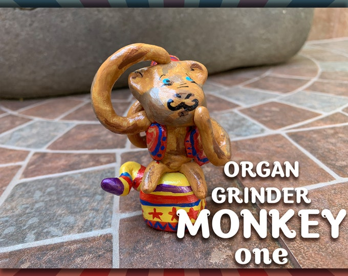 Lil' Circus Organ Grinder Monkey one Pal