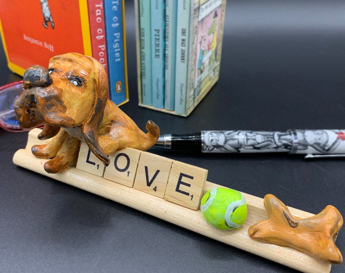 Bloodhound Puppy Love desk office statue