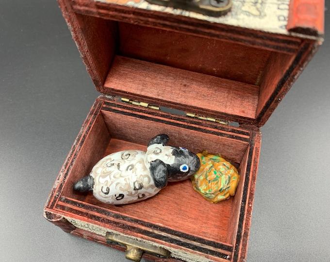 Little Lamb Tiny Treasure Chest Pal