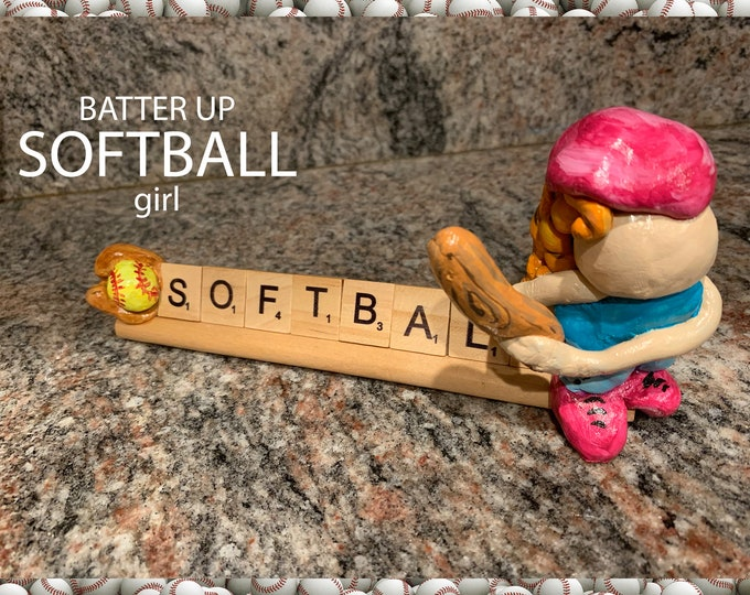 SOFTBALL Scrabble Desk Pal