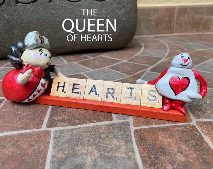 Queen of Hearts Wonderland Scrabble Art