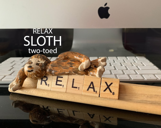 Sloth the two-toed Scrabble Desk Pal