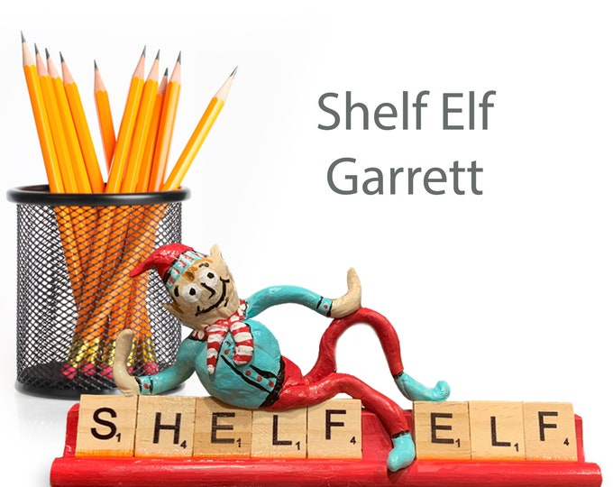 Scrabble Shelf Elf Garrett