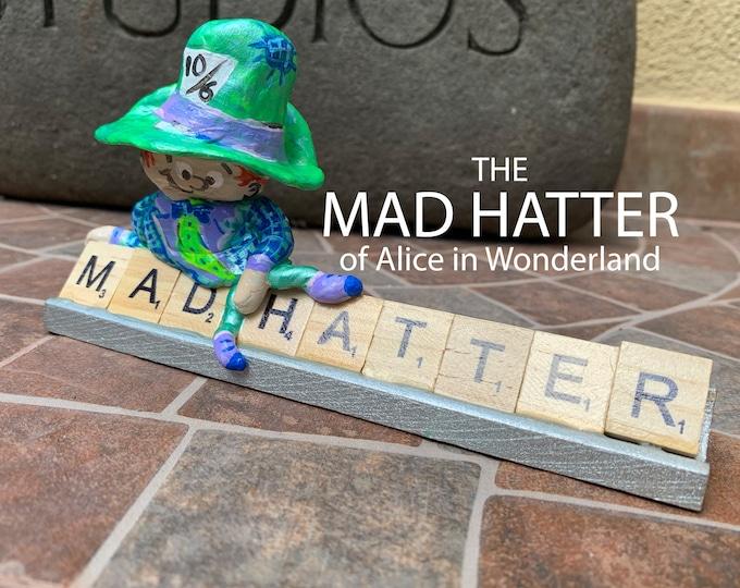Mad Hatter Wonderland Scrabble Art