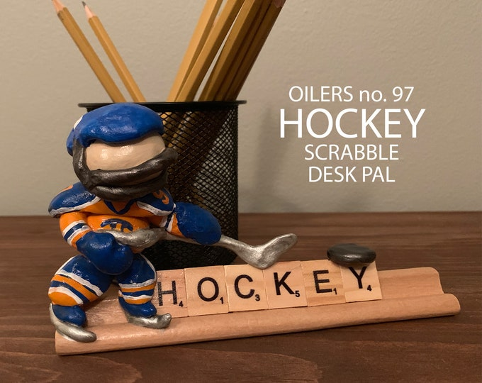 Edmonton Oilers Hockey Scrabble Desk Pal
