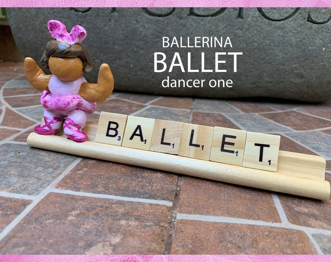 Ballerina Sculpture Fairy Garden Accessories Ballet Dancer Sculpture Art Scrabble Gifts Garden Sculptures Small Sculpture Art Funny Gifts