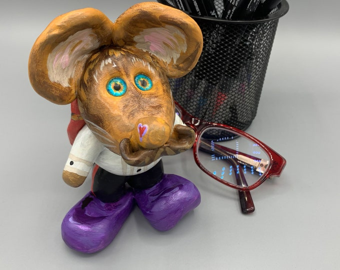 Maestro Mouse Miniature Art Desk Sculpture Pet