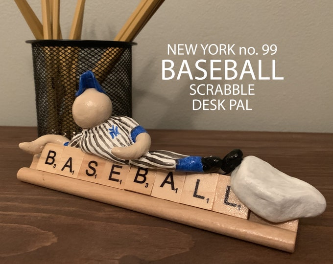 New York Yankee Baseball Scrabble Desk Pal