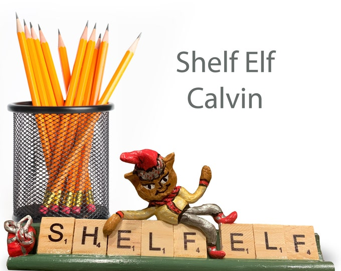 Scrabble Shelf Elf Calvin