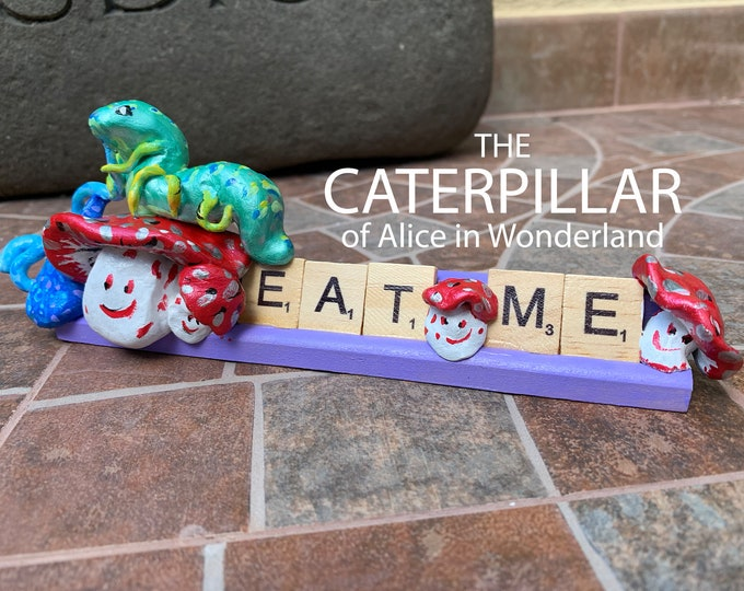 Caterpillar Wonderland Scrabble Art