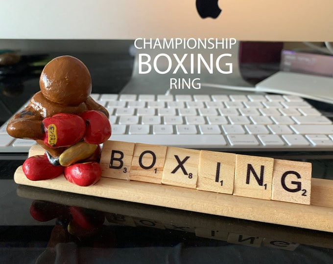 Boxing Champion Scrabble Desk Pal