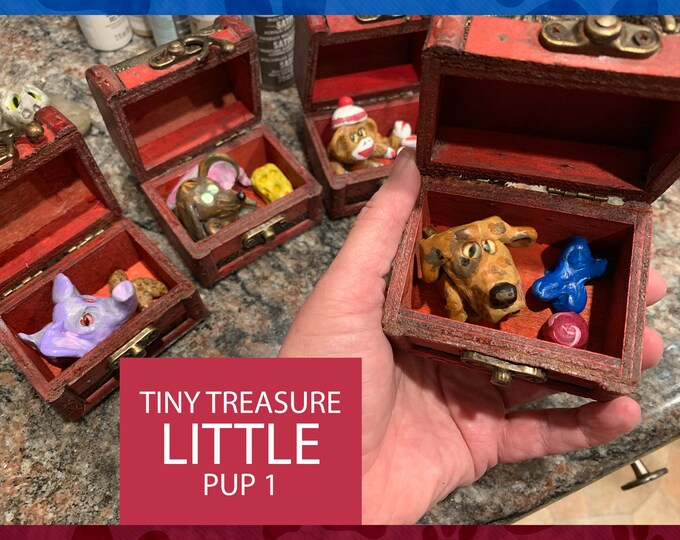 LITTLE PUP Tiny Treasure Chest Pal