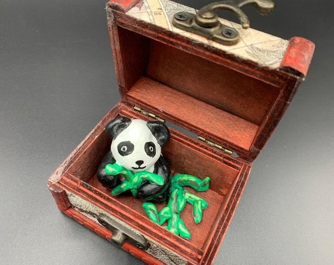 Panda Bear Tiny Treasure Chest Pal