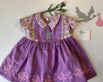 Hippie Dress Autumn Winter Autumn Dress Ankle Length Boho Midi Dress Long Sleeve Butterfly Pattern Volant Hem Dress with Slit 34 Arm