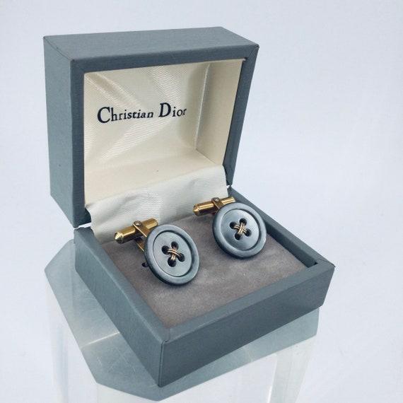 Vintage Dior Cufflinks MOP 12k Gold Filled Christi