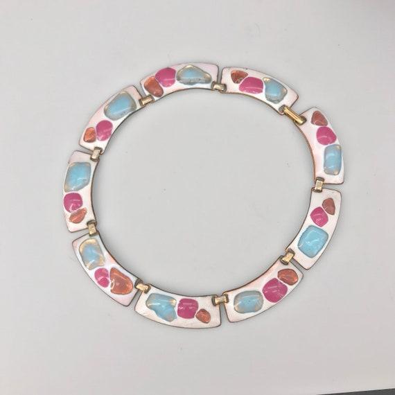 Kay Denning Enameled Necklace