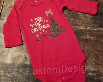 1df51741e419 Christmas Outfit My First Christmas - My 1st Christmas Outfit Baby Boy/Girl  Bodysuit