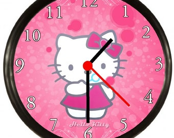 e1cea610c Hello kitty clock | Etsy