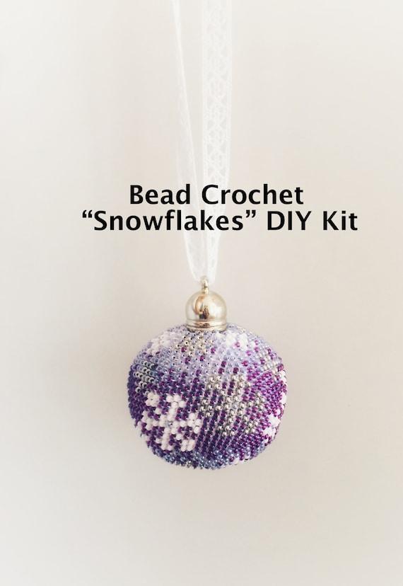 Perle Häkeln Weihnachten Ornament Kit Schneeflocken Ball Etsy