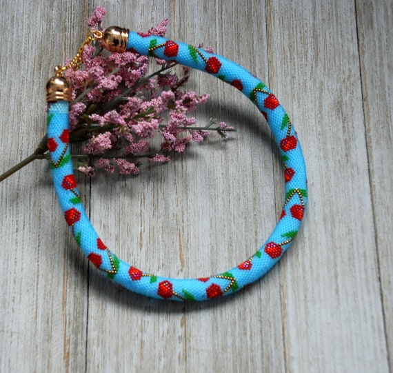 Seed Bead NecklaceColourful Seed Bead NecklaceGift For HerValentine/'s DayGift For Mom