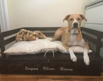 LARGE - Wooden Dog Bed/Couch with Storage Space