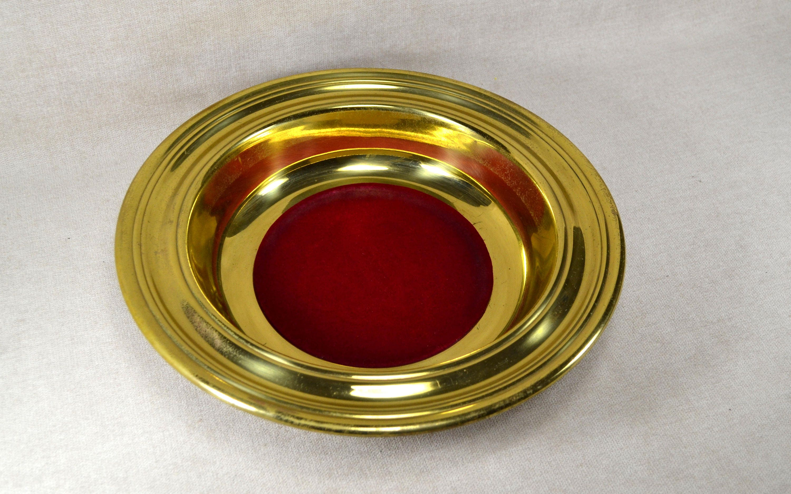 Vintage Church Offering Plate Brass Collection Plate with ...