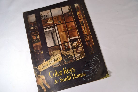 Vintage 1950s Home Decor Ideas Brochure Lowe Brothers Color Etsy