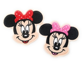 Disney Rose Minnie Mouse Bow brodé Appliques Patch Sew Iron personnage