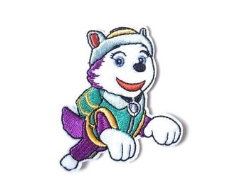 Everest Iron On Patch - Paw Patrol Clothing Patches - Cartoon Patches