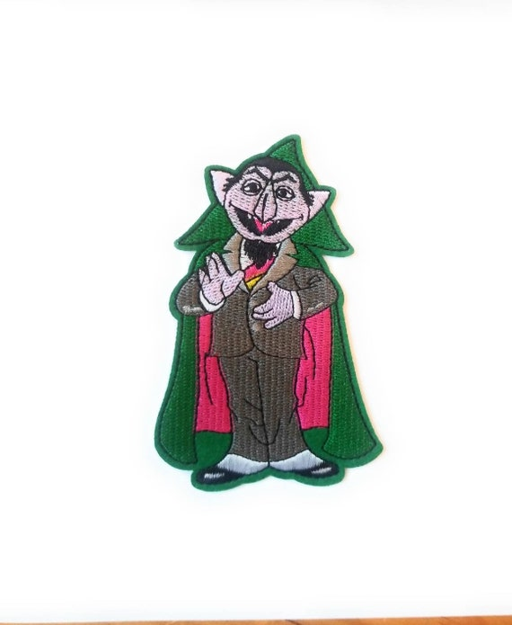 Count Von Count Iron On Patch Sesame Street Clothing Applique Ready To Ship