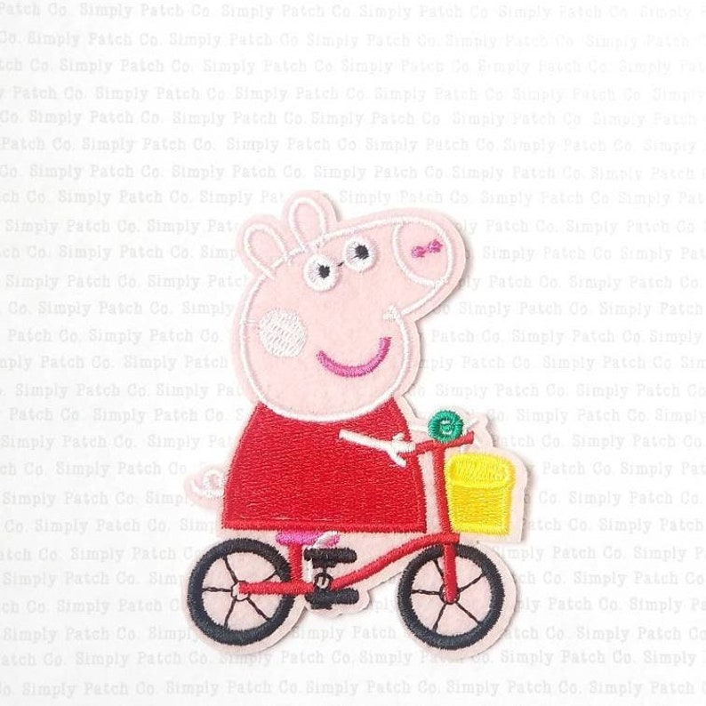 Peppa Pig Riding Her Bike Peppa Pig Clothing Patch Applique