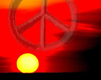 "Photo print ""Peaceful Sunset"""