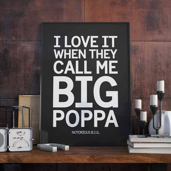 Großen Poppa Poster Kunstdruck Notorious B.I.G Biggie   Etsy