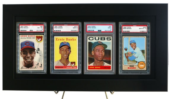 3 Sports Card Frame Display for PSA Graded Vertical Cards