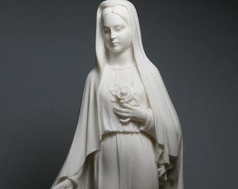 Virgin Mary Mother of JESUS Holy Our Lady Of Rose Madonna Statue Sculpture **Free Shipping & Free Tracking Number**