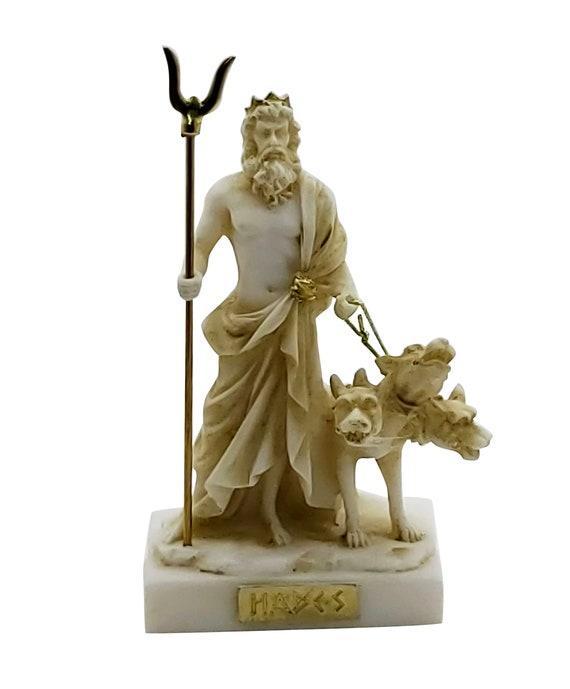 Hades Pluto Greek God Of Underworld Cerberus Figure Statue Etsy