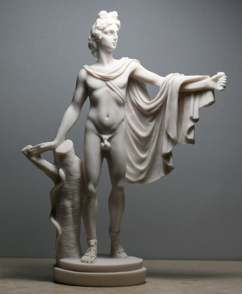 7ee6661b9f922 APOLLO Belvedere Greek Roman God Nude Male Statue Sculpture 9.45in - 24cm  **Free Shipping & Free Tracking Number**