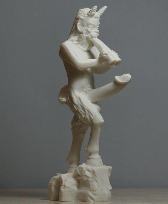 PAN Greek Nude God of Nature Faunus Phallus Penis Statue Sculpture 7in - 18  cm **Free Ship & Free tracking Number**