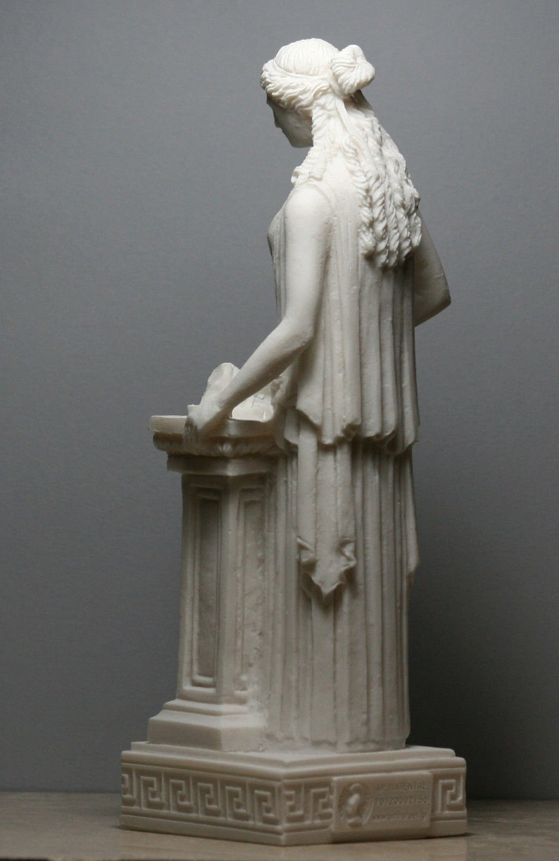 Hestia Vesta Statue Greek Roman Goddess of Home Family   Etsy