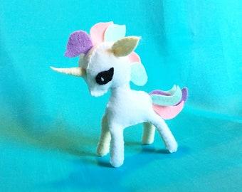 PDF sewing patterns and instructions of felt animal -Unicorn-