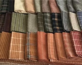 Homemade Homespuns Fat Quarter Bundle by Kansas Troubles for Moda Fabrics, 40-Piece Fat Quarter Bundle, Kansas Troubles Fat Quarter Bundle