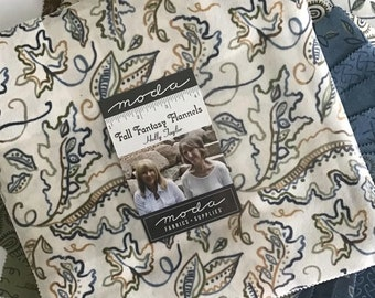 """Fall Fantasy Flannels Layer Cake by Holly Taylor for Moda Fabrics, (42) 10"""" Precut Cotton Flannel Layer Cake, Fall Flannel Layer Cake"""