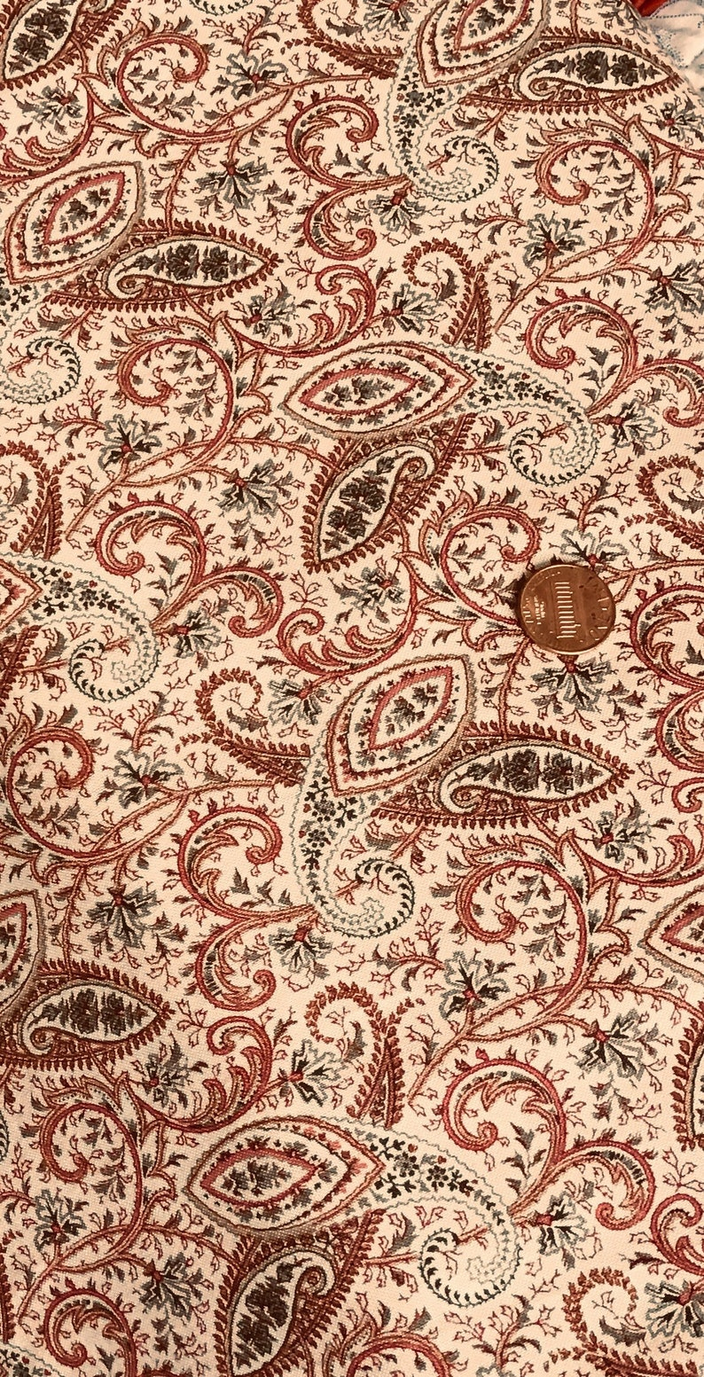 Paisley Quilt Fabric from the Garden Open Paisley Collection by Marcus Brothers Paisley on an Off White Cream Background