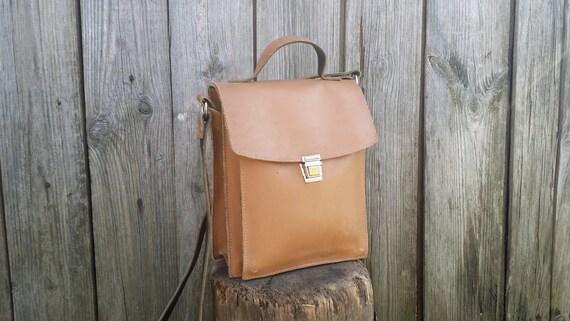 Sac besace en cuir Vintage, sac fourre-tout en cuir, sac à bandoulière, cartable en cuir, petit sac en cuir, sac en cuir brun, Distressed.