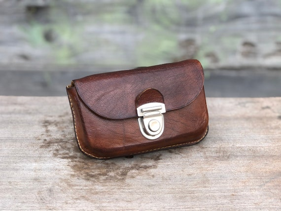 Desert Pouch Vintage Wasteland Belt Pouch With Riveted Metal